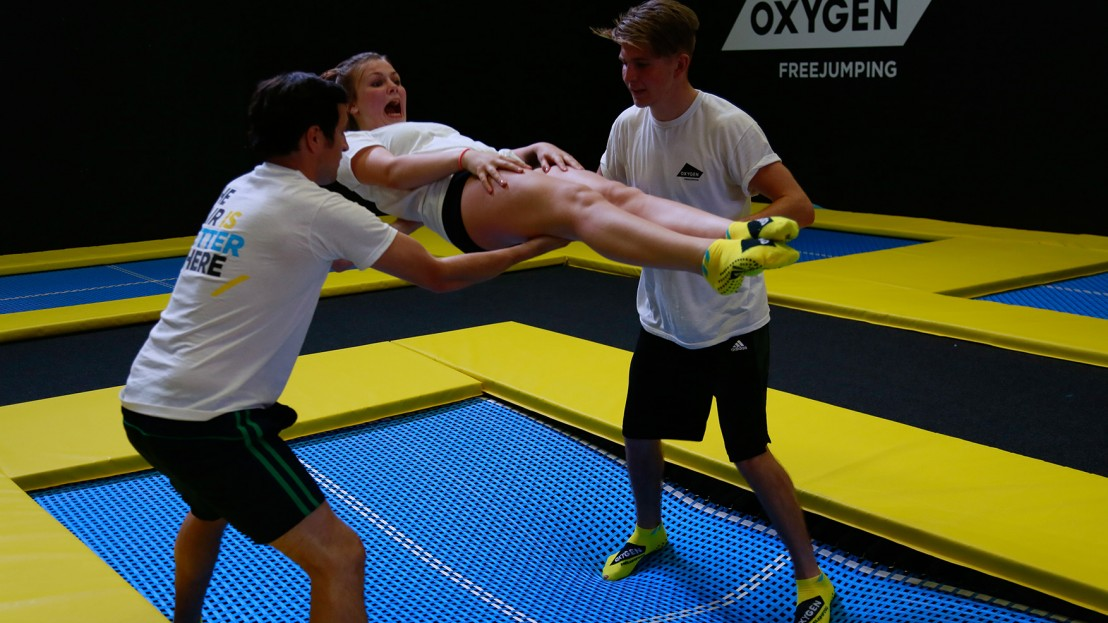 school of trampolining at oxygen