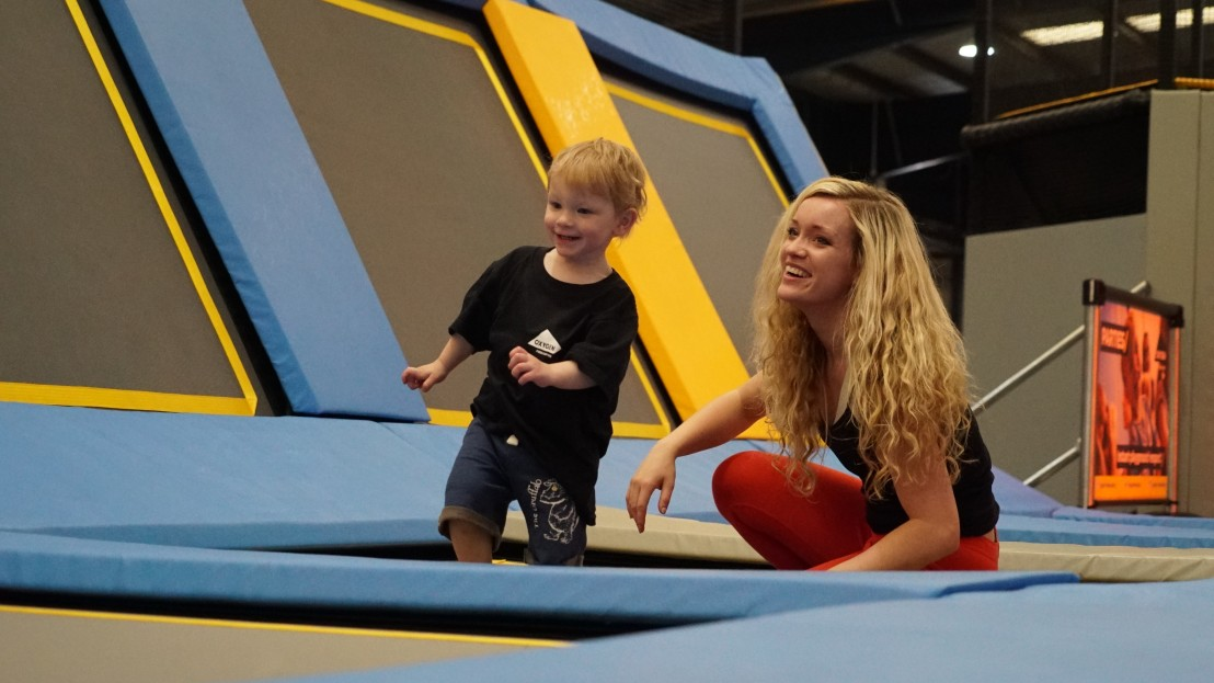 toddler sessions in Oxygen Freejumping trampoline park