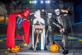 Scary halloween fun in trampoline park