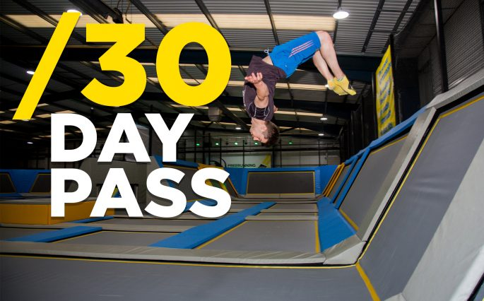 30 day pass to Oxygen Freejumping trampoline park