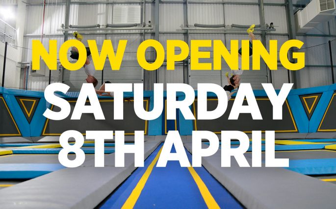 Trampoline park Croydon open 8th April